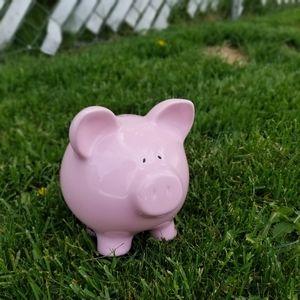 3/$33 Old school pink piggy bank novelty vintage